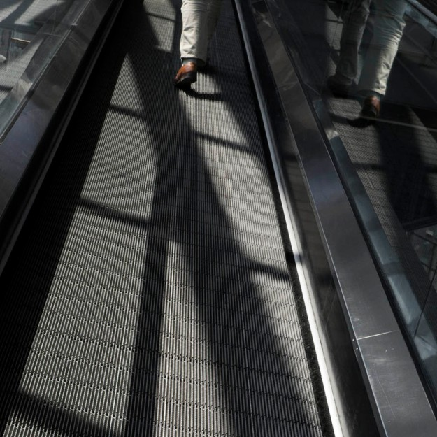Escalator, London,