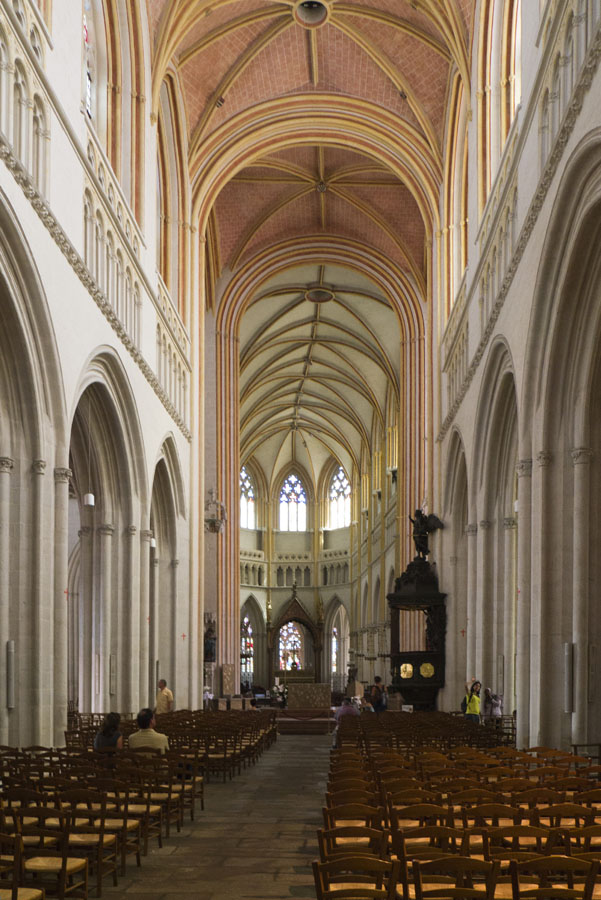 Nave of Saint Coretin Cathedral, Quimper