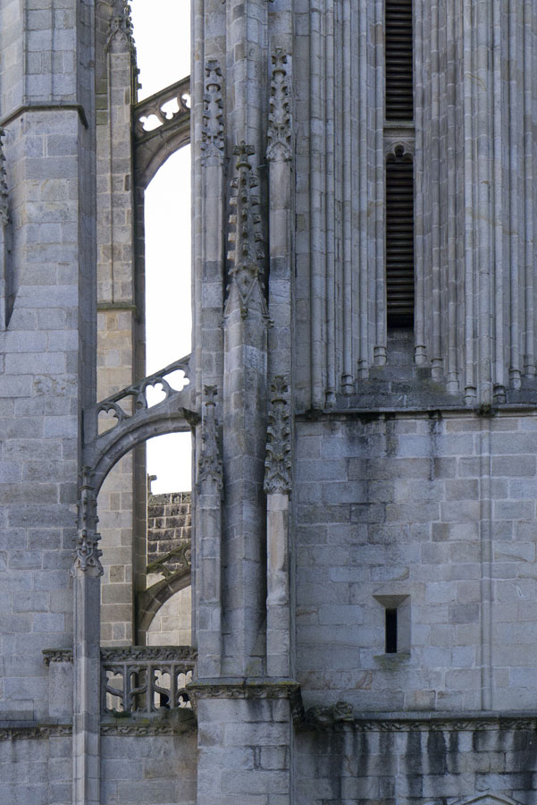 Flying Buttressing at Saint Coretin Cathedral, Quimper