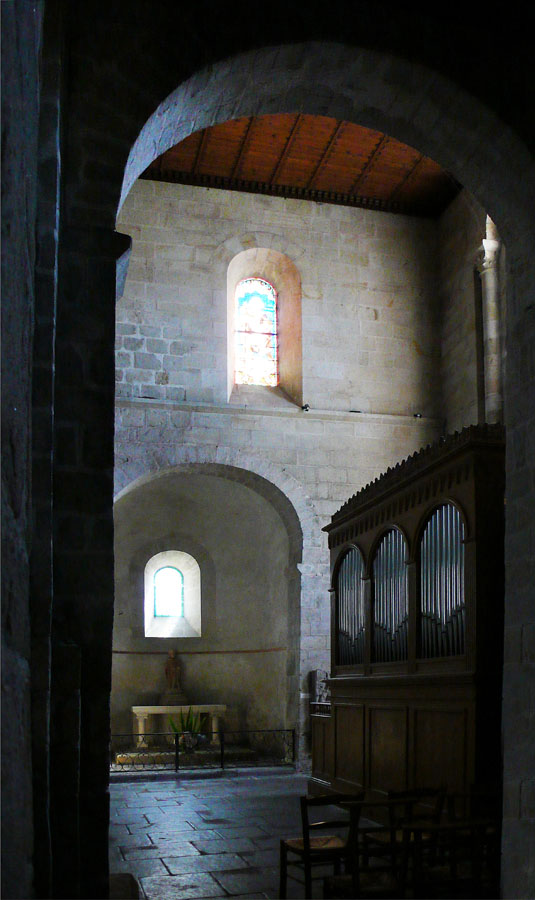 Nave of Side the Church of Locmarie, near Quimper